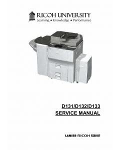 RICOH Aficio MP-6002 7502 9002 D131 D132 D133 Service Manual