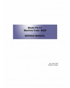 RICOH Aficio MP-C1500SP MPC1500 615C B229 Parts Service Manual