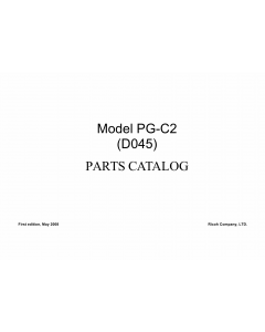 RICOH Aficio MP-C1800 D045 Parts Catalog