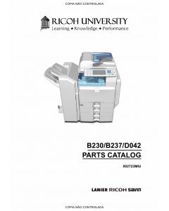 RICOH Aficio MP-C2000 C2500 C3000 B230 B237 D042 Parts Catalog