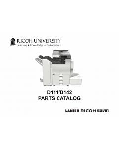 RICOH Aficio MP-C3002 C3502 D111 D142 Parts Catalog