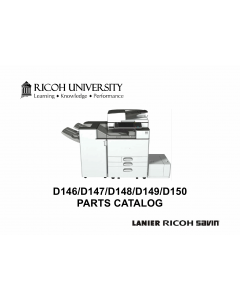RICOH Aficio MP-C3003 C3503 C4503 C5503 C6003 D146 D147 D148 D149 D150 Parts Catalog