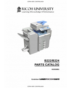 RICOH Aficio MP-C3500 C4500 B222 B224 Parts Catalog