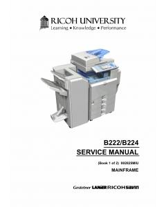 RICOH Aficio MP-C3500 C4500 B222 B224 Service Manual