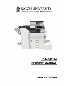 RICOH Aficio MP-C4502 C5502 D143 D144 Service Manual