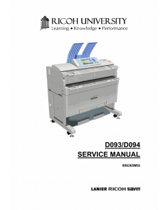 RICOH Aficio MP-W2401 W3601 D093 D094 Service Manual