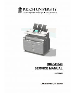 RICOH Aficio MP-W5100 W7140 D046 D049 Parts Service Manual