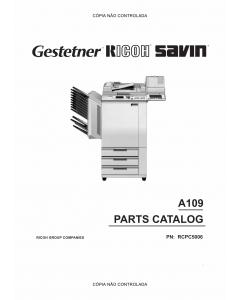 RICOH Aficio NC5006 A109 Parts Catalog