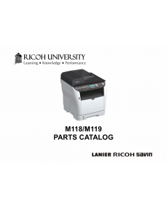 RICOH Aficio SP-3500DF 3510SF M118 M119 Parts Catalog