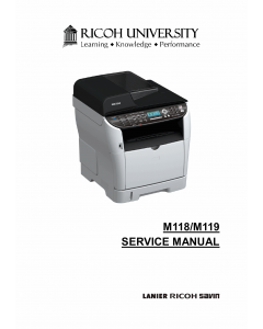 RICOH Aficio SP-3500DF 3510SF M118 M119 Service Manual
