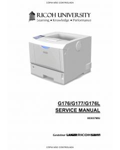 RICOH Aficio SP-4100N 4110N 4100NL G176 G177 G176L Service Manual
