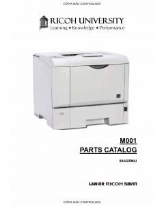 RICOH Aficio SP-4200N M001 Parts Catalog