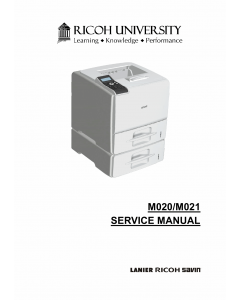 RICOH Aficio SP-5200DN 5210DN M020 M021 Service Manual