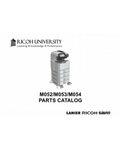 RICOH Aficio SP-5200S 5210SF 5210SR Parts Catalog