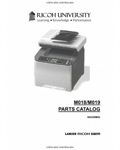 RICOH Aficio SP-C231SF C232SF M018 M019 Parts Catalog