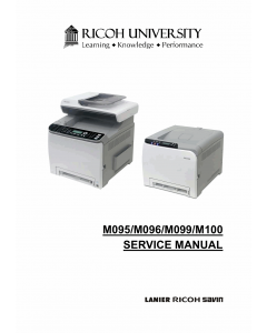 RICOH Aficio SP-C240DN C242DB C240SF C242SF M095 M096 M099 M100 Service Manual