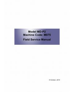 RICOH Aficio SP-C320DN M075 Service Manual