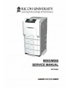 RICOH Aficio SP-C430DN C431DN M065 M066 Service Manual