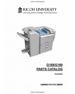 RICOH Aficio SP-C820DN C821DN G188 G189 Parts Catalog