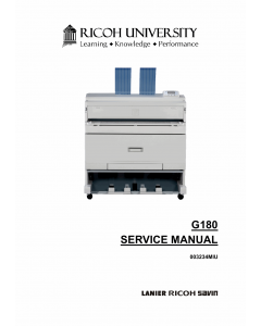 RICOH Aficio SP-W2470 G180 Parts Service Manual