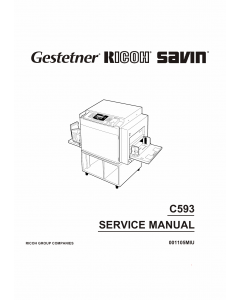 RICOH Aficio TC-II C593 Service Manual