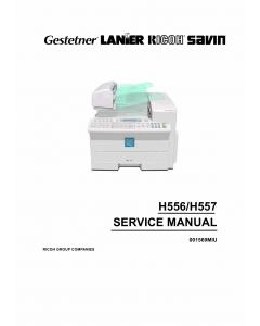 RICOH Fax 4410 4420 4430 H556 H557 Service Manual