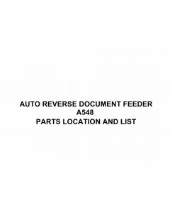 RICOH Options A548 AUTO-REVERSE-DOCUMENT-FEEDER Parts Catalog PDF download
