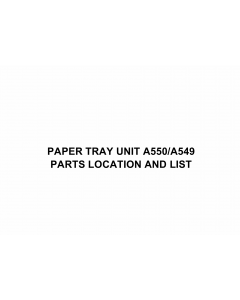 RICOH Options A550 PAPER-TRAY-UNIT Parts Catalog PDF download