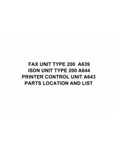 RICOH Options A639 FAX-UNIT-TYPE-200 Parts Catalog PDF download