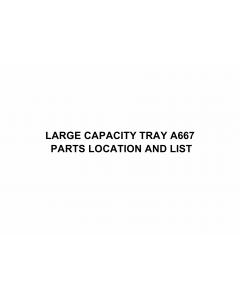 RICOH Options A667 LARGE-CAPACITY-TRAY Parts Catalog PDF download