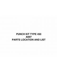 RICOH Options A697 PUNCH-KIT-TYPE-450 Parts Catalog PDF download