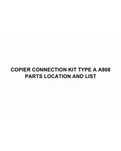 RICOH Options A808 COPIER-CONNECTION-KIT-TYPE-A Parts Catalog PDF download