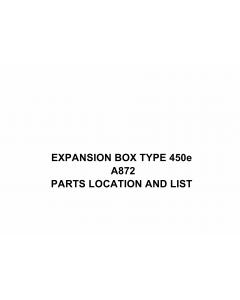RICOH Options A872 EXPANSION-BOX-TYPE-450e Parts Catalog PDF download