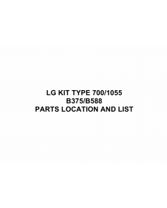 RICOH Options B375 B588 LG-KIT-TYPE-700-1055 Parts Catalog PDF download