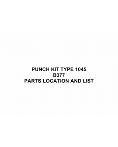 RICOH Options B377 PUNCH-KIT-TYPE-1045 Parts Catalog PDF download