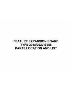 RICOH Options B658 FEATURE-EXPANSION-BOARD Parts Catalog PDF download