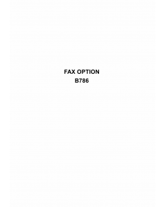 RICOH Options B786 FAX-OPTION Service Manual PDF download