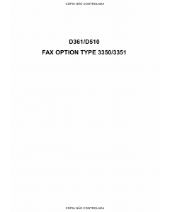 RICOH Options D361 D510 G578 FAX-OPTION-TYPE-3350-3351 Service Manual PDF download