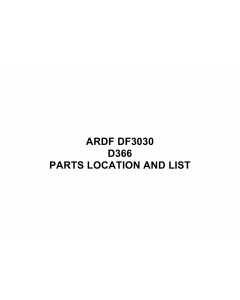 RICOH Options D366 DF3030 Parts Catalog PDF download