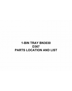 RICOH Options D367 1-BIN-TRAY-BN3030 Parts Catalog PDF download