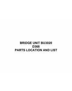 RICOH Options D368 BRIDGE-UNIT-BU3020 Parts Catalog PDF download