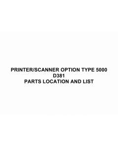 RICOH Options D381 PRINTER-SCANNER-OPTION-TYPE-5000 Parts Catalog PDF download