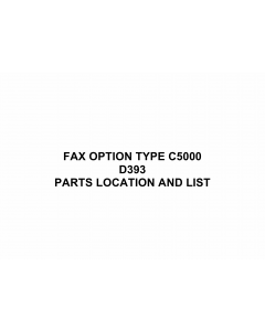 RICOH Options D399 FAX-OPTION-TYPE-C5000 Parts Catalog PDF download