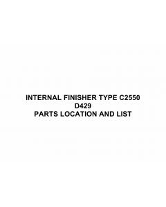 RICOH Options D429 INTERNAL-FINISHER-TYPE-C2550 Parts Catalog PDF download