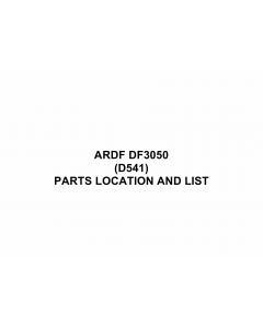 RICOH Options D541 ARDF-DF3050 Parts Catalog PDF download