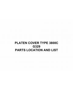 RICOH Options G329 PLATEN-COVER-TYPE-3800C Parts Catalog PDF download
