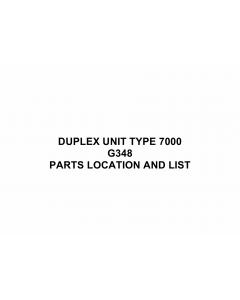 RICOH Options G348 DUPLEX-UNIT-TYPE-7000 Parts Catalog PDF download