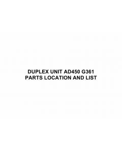 RICOH Options G361 DUPLEX-UNIT-AD450 Parts Catalog PDF download