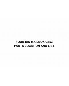 RICOH Options G553 FOUR-BIN-MAILBOX Parts Catalog PDF download