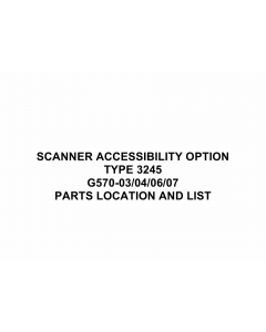RICOH Options G570 SCANNER-ACCESSIBILITY-TYPE-3245 Parts Catalog PDF download